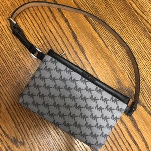 Michael Kors black grey belt bag like new